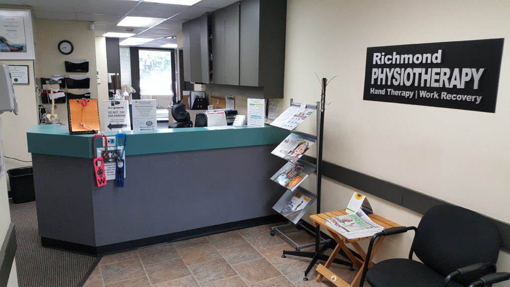 Richmond Physiotherapy front reception area