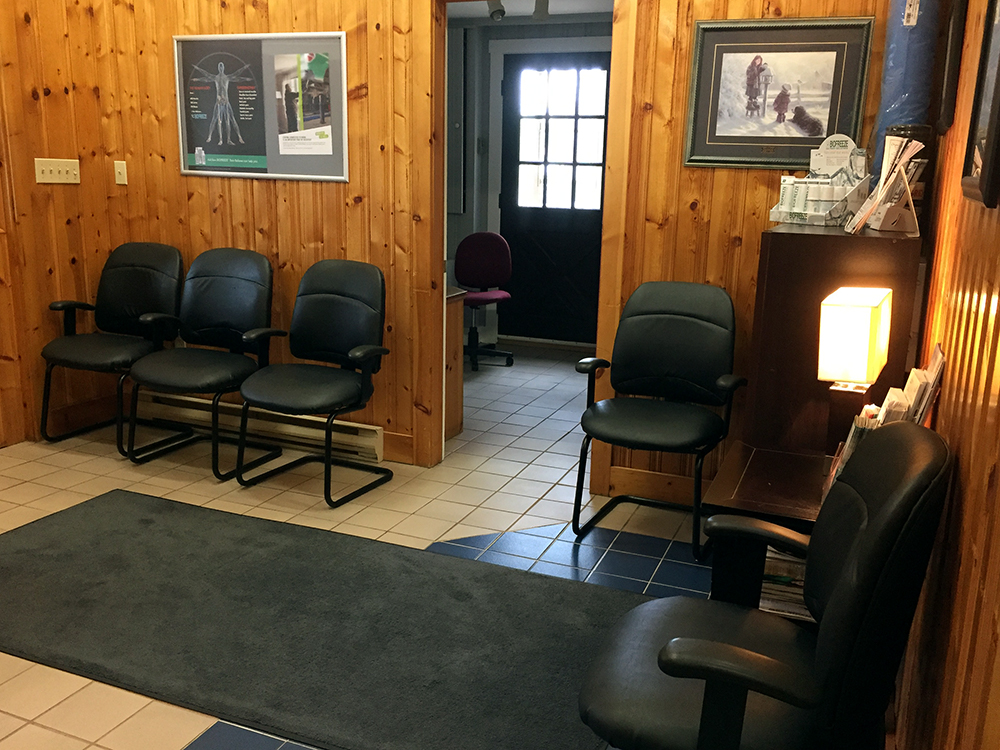 Photograph of Berwick Physiotherapy's reception area