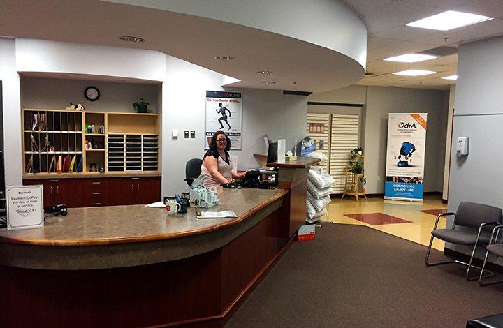 Photograph of reception area at Cole Harbour Physiotherapy pt Health
