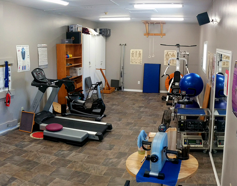 Fairvale Physiotherapy - pt Health's gym area with exercise equipment