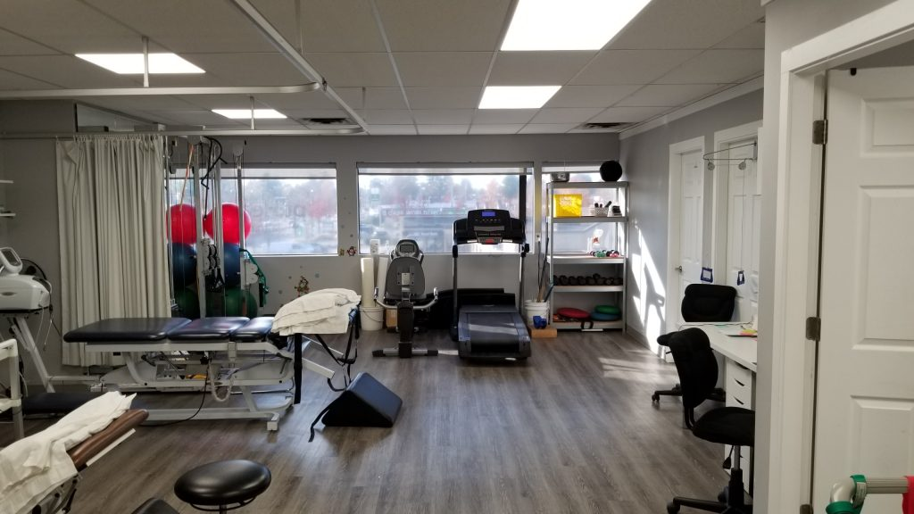 photo of newton physiotherapy gym area