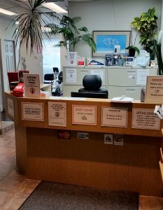 Photograph of North Brampton Physiotherapy pt Health reception area