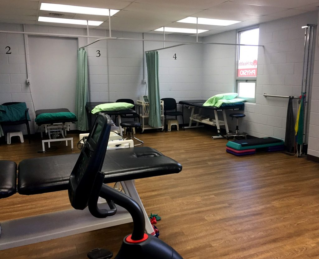 The treatment area of Stoney Creek physiotherapy