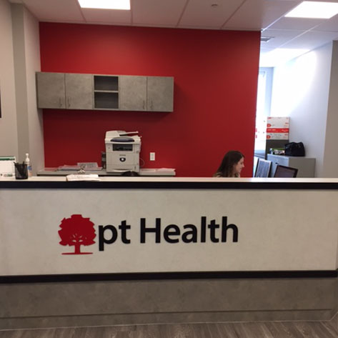 Stratford Physiotherapy Reception desk
