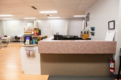 photo of front desk at trafalgar