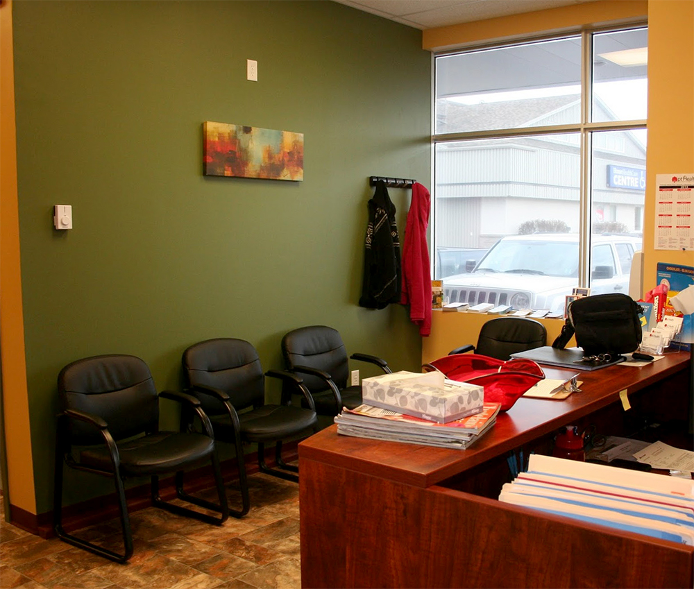 Photograph of pt Health Amherst reception area