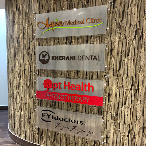 photograph of advantage health aspen interior wayfinding signage