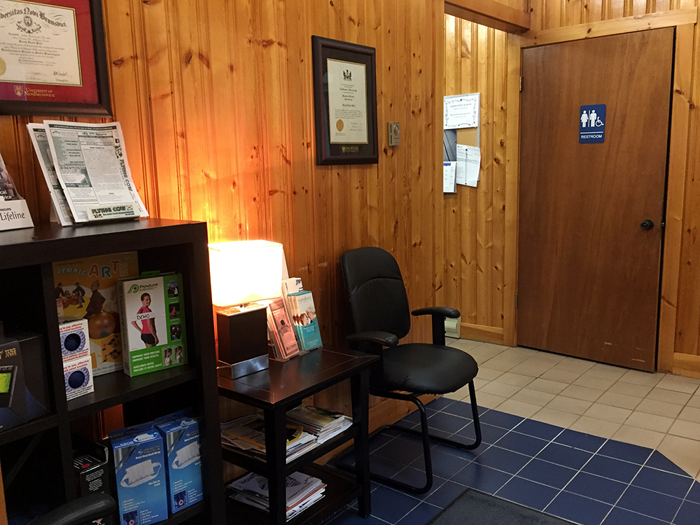 Photograph of Berwick Physiotherapy's waiting room