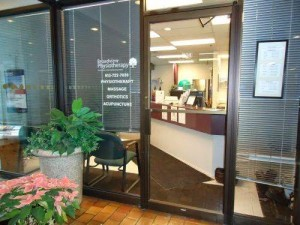 Front door of Broadview Physio Clinic