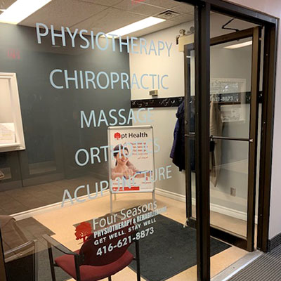 photo of pt health four seasons physiotherapy clinic entrance