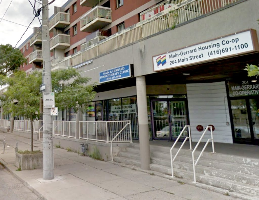 Main and Gerrard Physiotherapy Exterior in Toronto