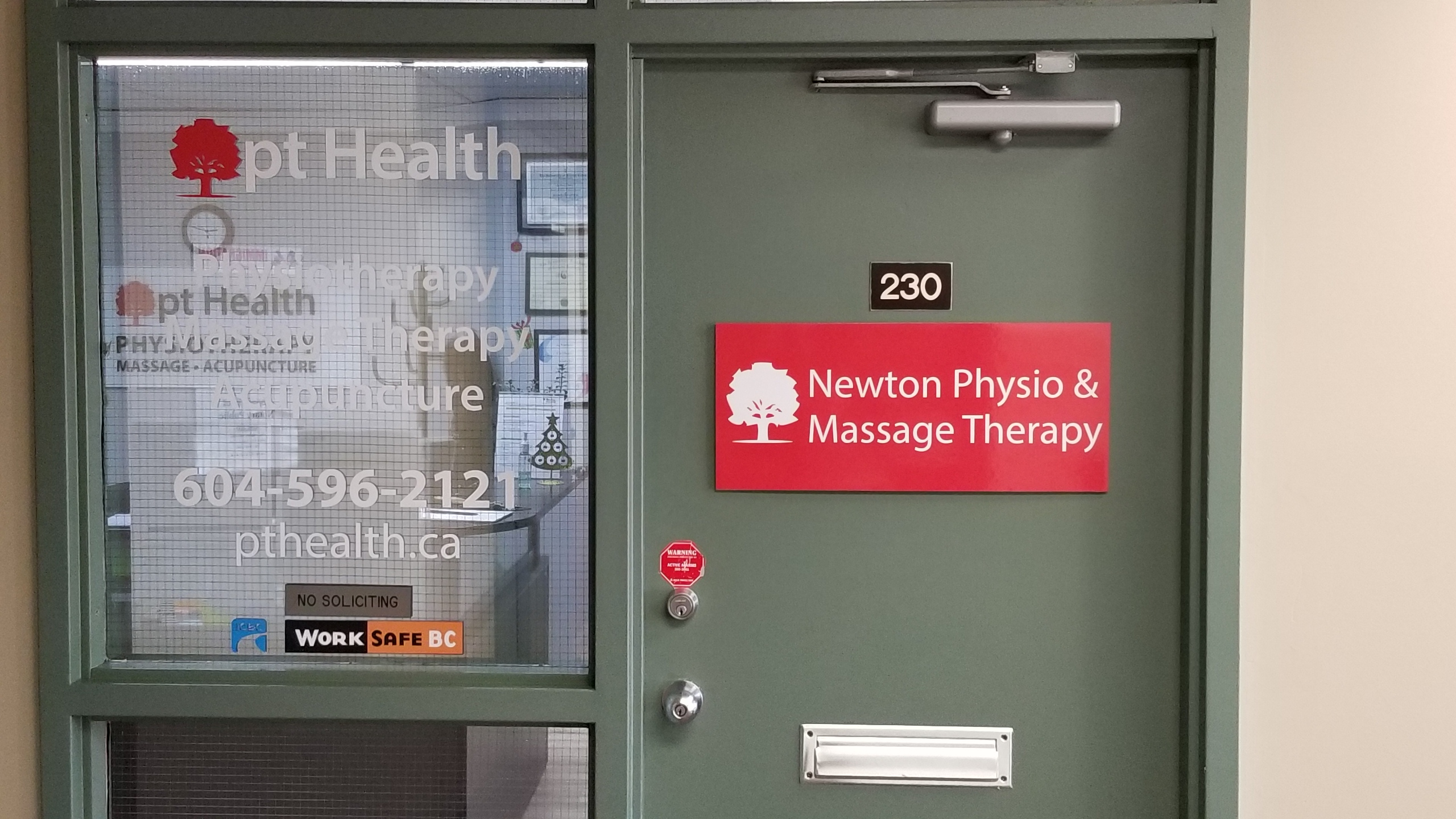 photo of newton physiotherapy front door