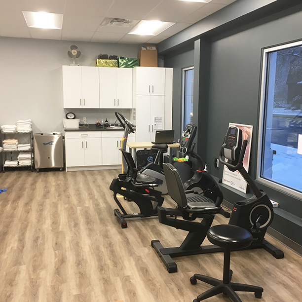 Photograph of Sarnia Physiotherapy pt Health's general gym area