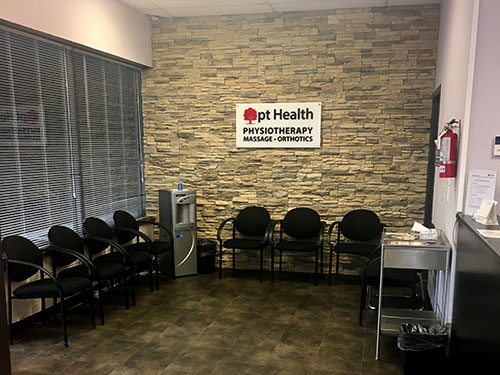 photo of the waiting area at Austin Ave Physiotherapy pt Health in Coquitlam