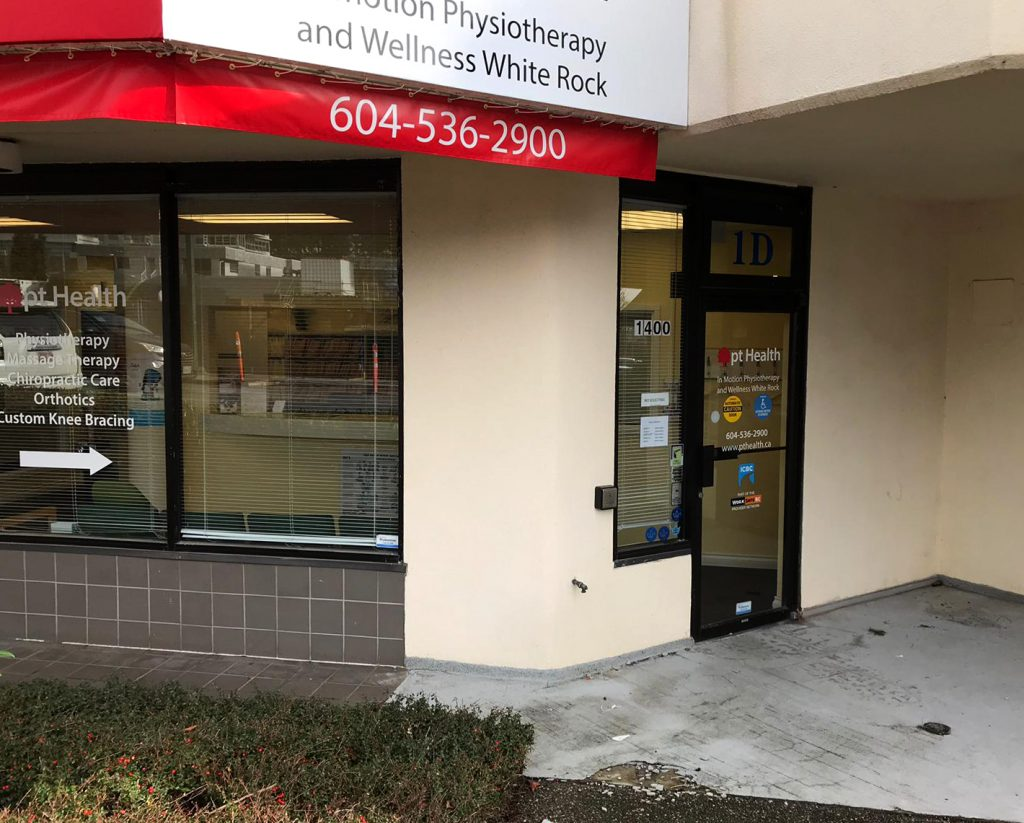 pt health in motion physiotherapy and wellness white rock entrance