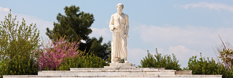 Statue of Hippocrates, the father of medicine.