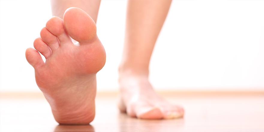 Walking with foot pain