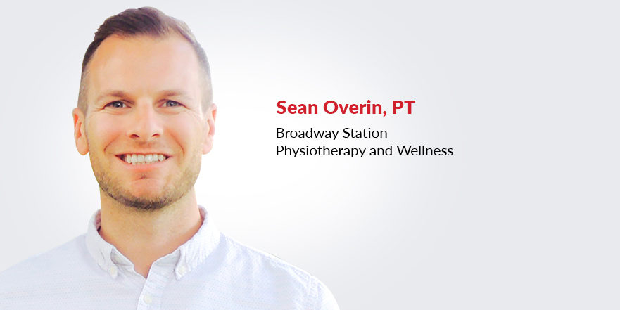 Sean Overin, physiotherapist at Broadway Station Physiotherapy and Wellness