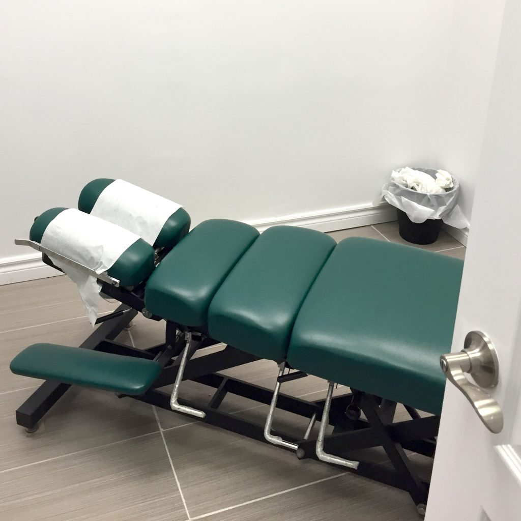 Photo of Chiropractic treatment room in North York