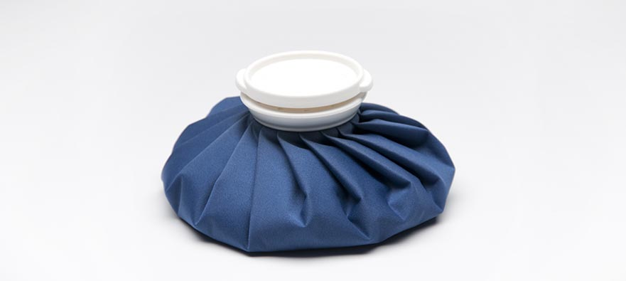 Photograph of a blue ice pack