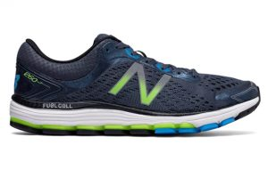 photograph of New Balance 1260v7 men's running shoes for overpronation