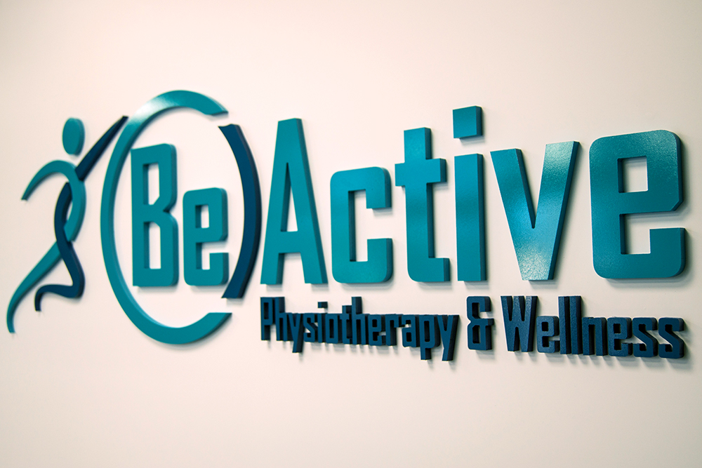 beactive physiotherapy and wellness oakville signage