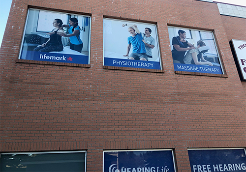 photo of Lifemark Physiotherapy Nose Hill Park Exterior Window Signage