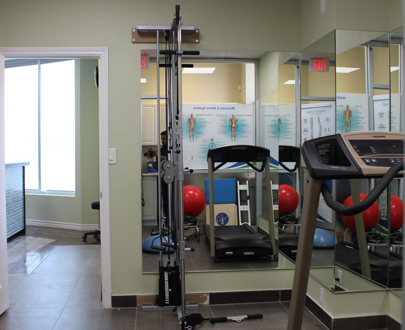 photo of vaughan rehab centre exercise room