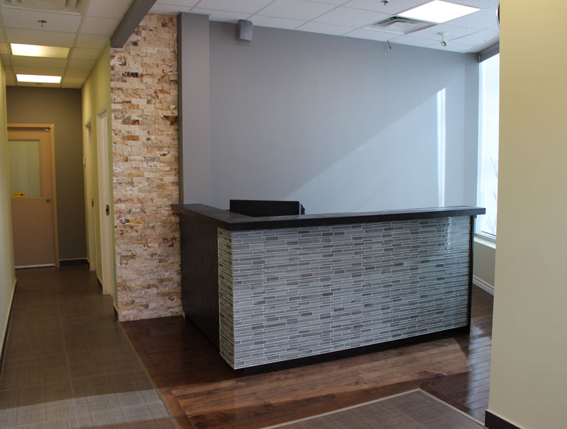 photo of vaughan rehab centre reception desk
