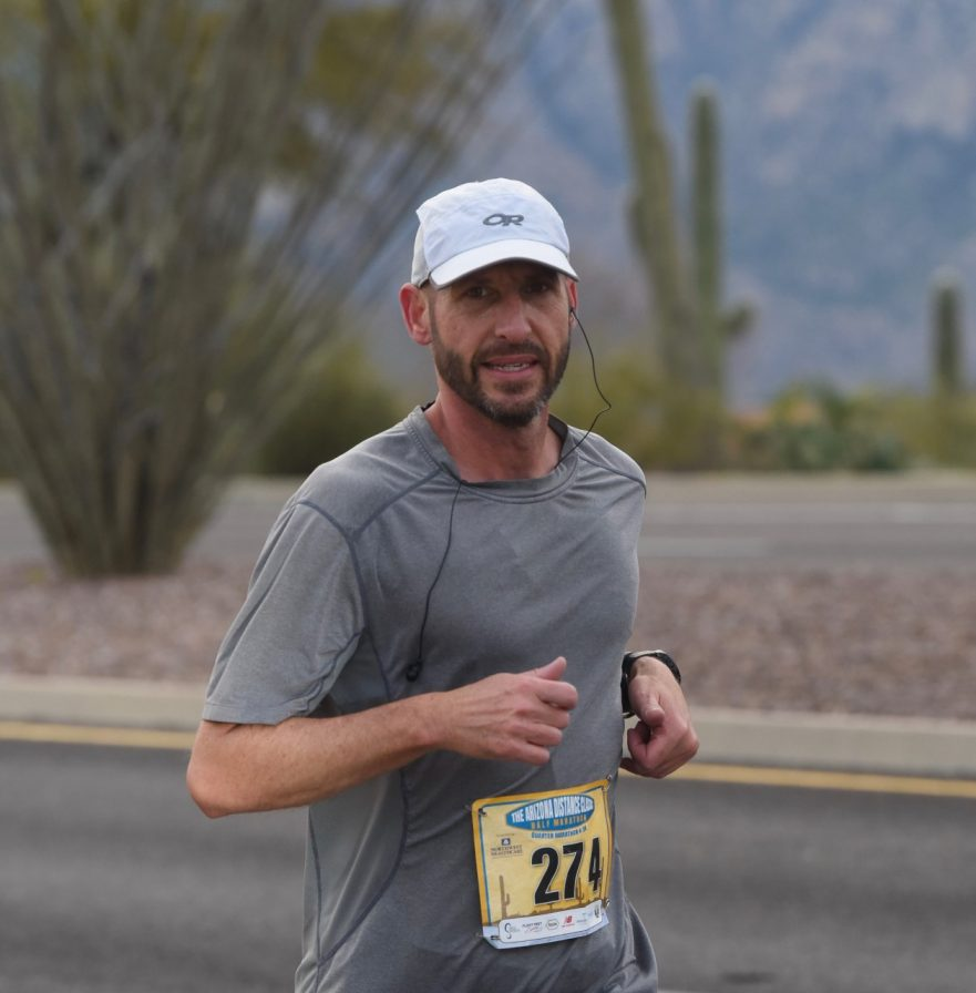 Jeff the Runner, Running Enthusiast, Writer & Certified Catalyst Life Coach, in Mid-Marathon